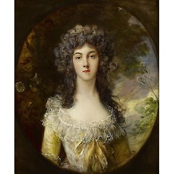 Thomas Gainsborough - Mrs Charles Hatchett Poster Print Giclee