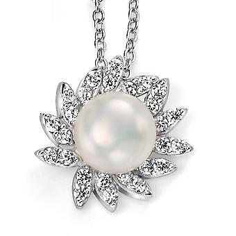 925 srebrny naszyjnik z pereł słodkowodnych