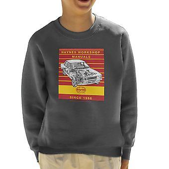 Haynes Workshop handmatige 0409 Ford Cortina 1300 Stripe Kid's Sweatshirt