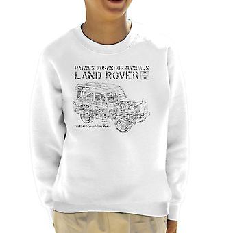 Haynes Workshop manuell Land Rover Camo svart barneklubb Sweatshirt