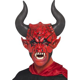 Smiffys Devil Lord Mask Red Half Face Latex (Costumes)