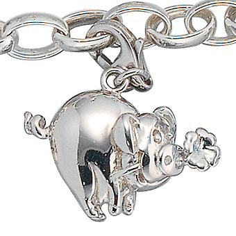Single earrings charm lucky pig 925 sterling silver lucky charm