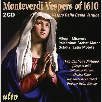 G. Monteverdi - Monteverdi: Vespers of 1610 [CD] USA import