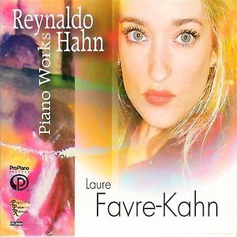Hahn/Farve-Kahn, Laure - Reynaldo Hahn: klaver værker [CD] USA import