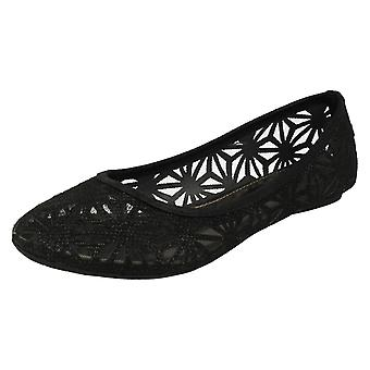 Ladies Spot On Slip On Casual Shoe F80116