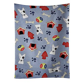 Carolines Treasures  BB3988KTWL Dog House Collection Bull Terrier Kitchen Towel