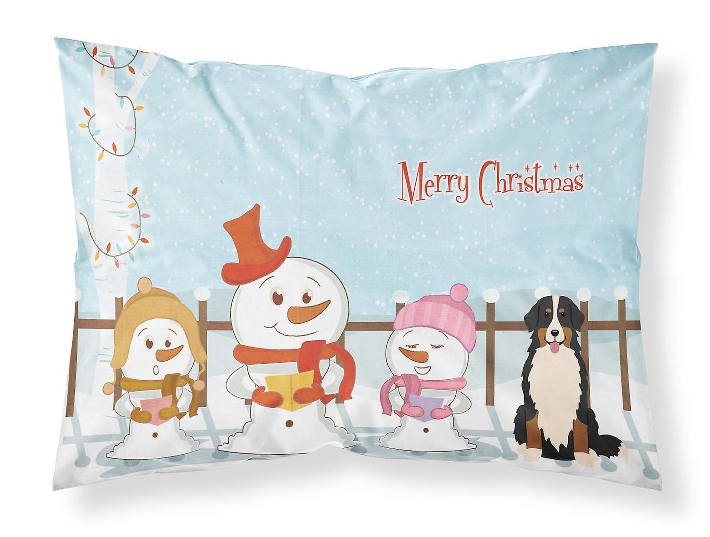 Taie Dog De Standard Noël Tissu Joyeux D'oreiller Bernese Mountain Chanteurs QdCxothsrB