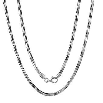 Sterling Silver 925 Unisex Womens Mens Snake Chain Heavy Solid Necklace Width 3mm