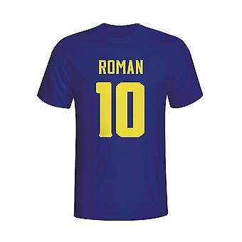 Juan Roman Riquelme Boca Juniors herói t-shirt (Marinha)