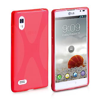 Yousave accesorios LG Optimus L9 Gel estuche X-Line - rojo