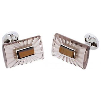 Duncan Walton Ray Cufflinks - Brown