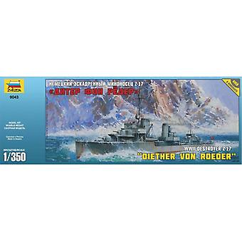 WWII German Destroyer Z-17 Diether Von Roeder - 1:350 Scale - 9043
