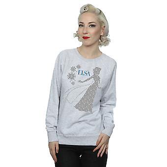 Disney Women's Frozen Elsa Christmas Silhouette Sweatshirt