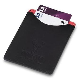 Woodland Leathers Black & Red Credit Card Case and Money Clip