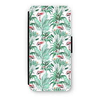 iPhone 5c Flip Case - Flamingo leaves