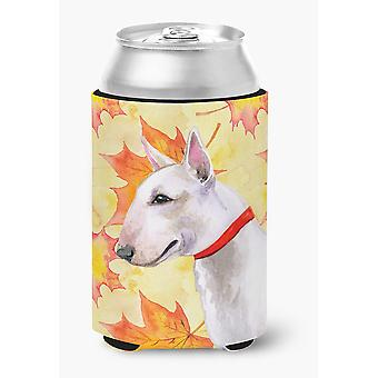 Carolines Treasures  BB9954CC Bull Terrier Fall Can or Bottle Hugger