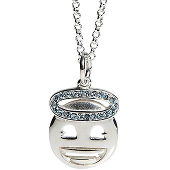 Kalas Silver Necklace Emoji Halo