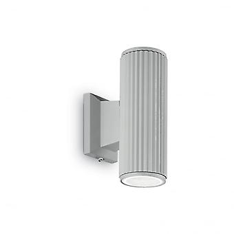 قاعدة لوكس مثالية حتى وباب الشرفة جدار الأنبوبة الخفيفة GU10، رمادي
