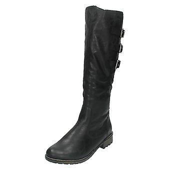 Las señoras retan alta pierna motorista estilo Boot R3370
