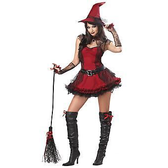 Elak häxa onda Halloween kvinnor kostym