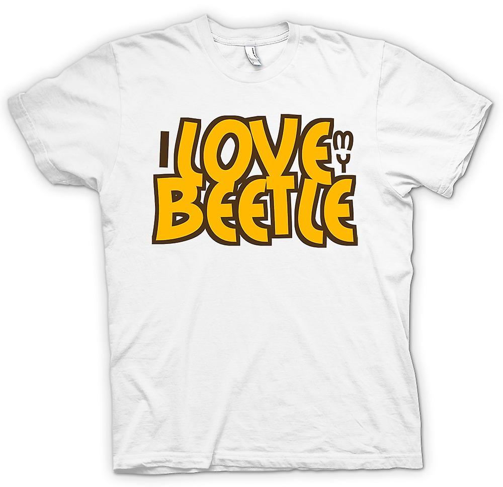 Mens T-shirt - I Love My Beetle - Car Enthusiast
