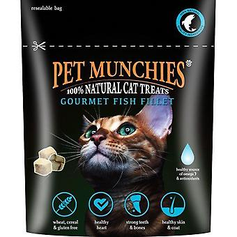 Pet Munchies Cat Treats Gourmet Fish Fillet, pack size 8
