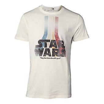 Star Wars Retro Rainbow Logo T-Shirt White X-Large (TS061675STW-XL)