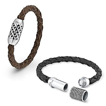 s.Oliver jewel mens leather bracelet stainless steel SO793/1 - 418072