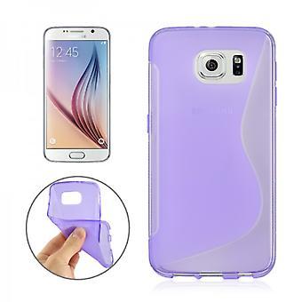 Silikonhülle S-Line Lila für Samsung Galaxy S6 G920 G920F