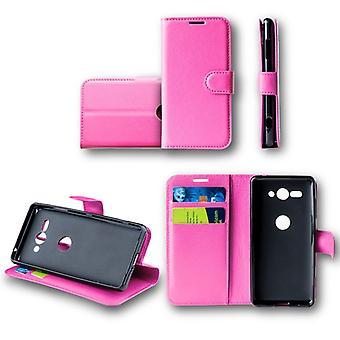 För Nokia 6 2018 Pocket plånbok premium rosa skyddande sleeve fodral cover fodral nya tillbehör