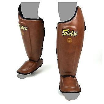 Fairtex SP8 Ultimate Shin Guards - Vintage Brown