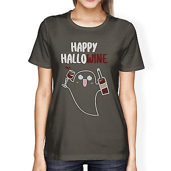 قميص سعيد حلويني الأشباح للمرأة هالوين زي تي شيرت
