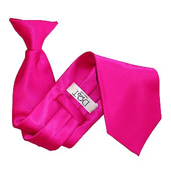 Hot Pink Plain Satin Clip On Tie