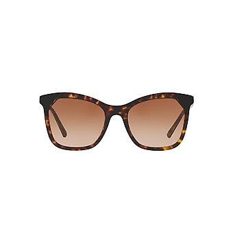 Burberry Two Tone Square Sunglasses In Dark Havana Black