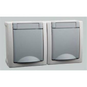VIKO Twin socket Pacific Grey 90591088-DE