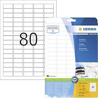 Herma 4336 Labels 35.6 x 16.9 mm Paper White