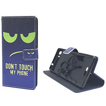 Handyhülle Tasche für Handy Wiko Fever 4G Dont Touch My Phone Grün