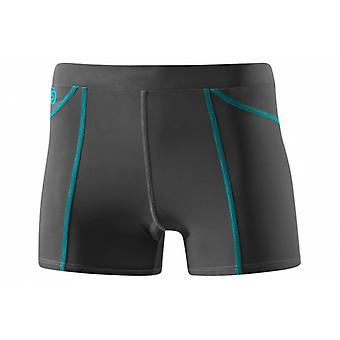 SKINS She Women's Bio Compression Ultra Short charcoal with azure stitching - B18034022