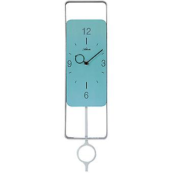 Atlanta 5019/19 wall clock quartz analog with pendulum pendulum clock turquoise