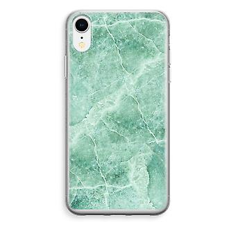 iPhone XR Transparant Case - Green marble