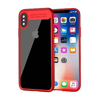 Stuff Certified ® iPhone X - Auto Focus Armor Case Cover Cas Silicone TPU Case Red