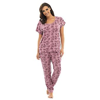 Ladies Wolf & Harte Floral Polycotton short sleeve Pyjama