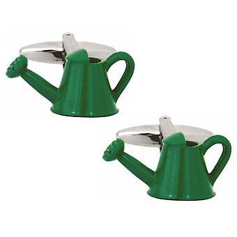 Zennor Watering Can Cufflinks - Green