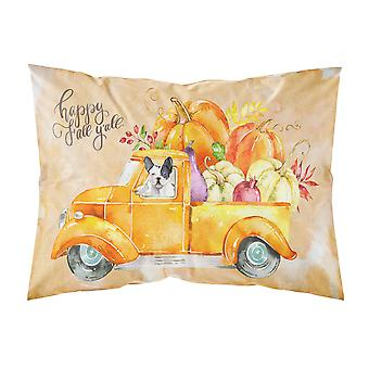 Fall Harvest French Bulldog Fabric Standard Pillowcase