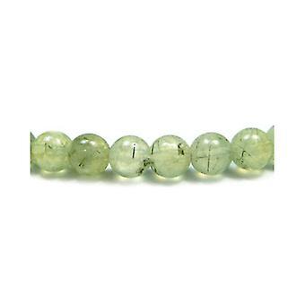 Aktionsbereich 45 + grüne Prehnit 8mm einfache Runde Perlen GS3254-3