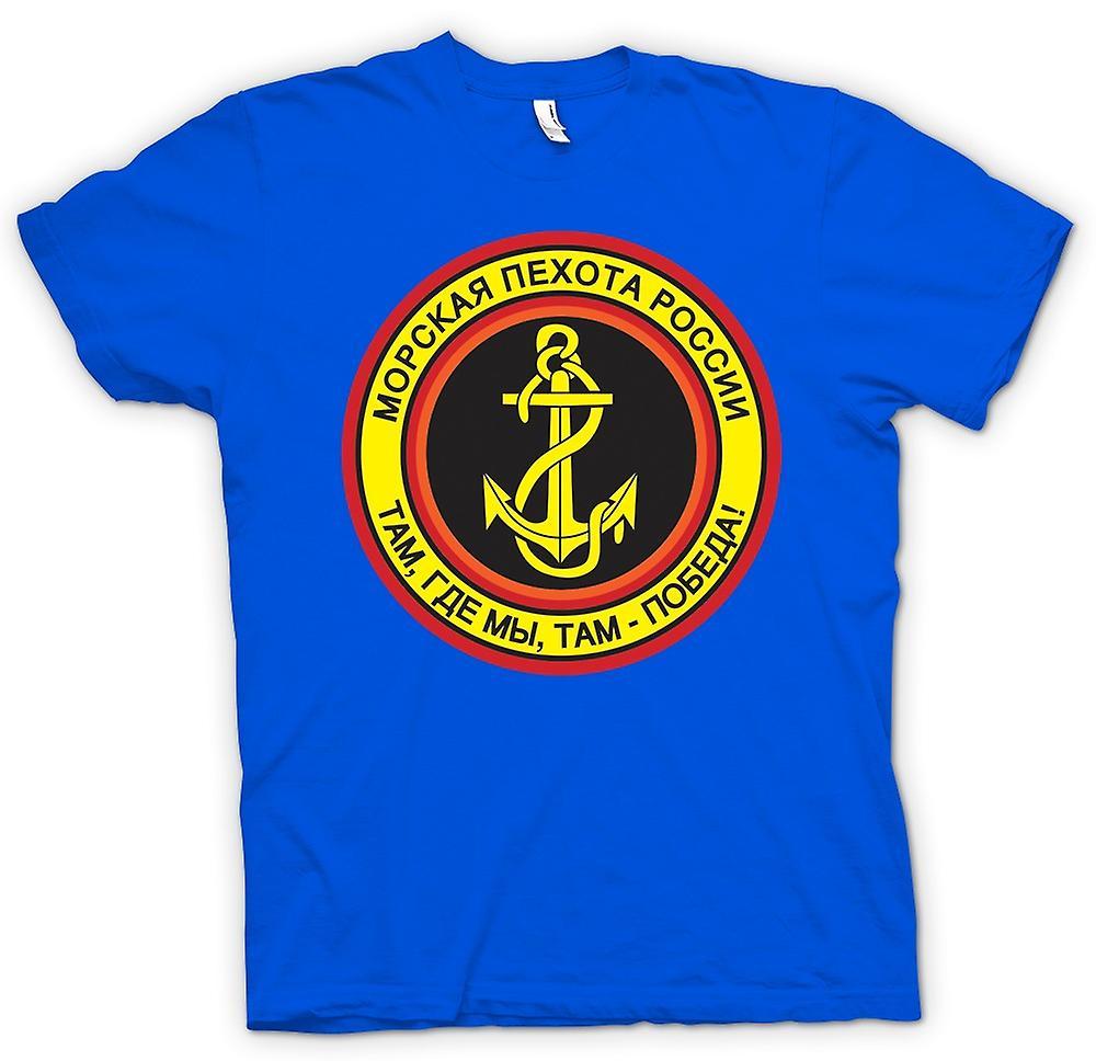 Hombres camiseta-infantería Naval rusa