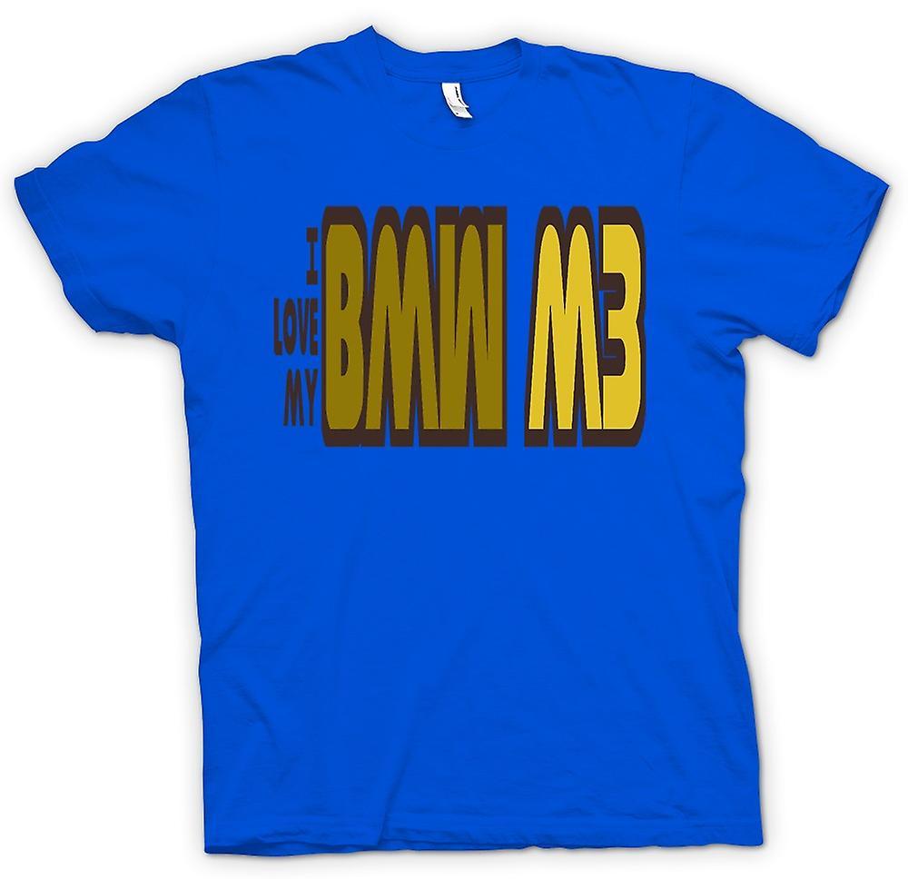 Mens-T-shirt - ich liebe meinen BMW M3 - Auto-Enthusiasten