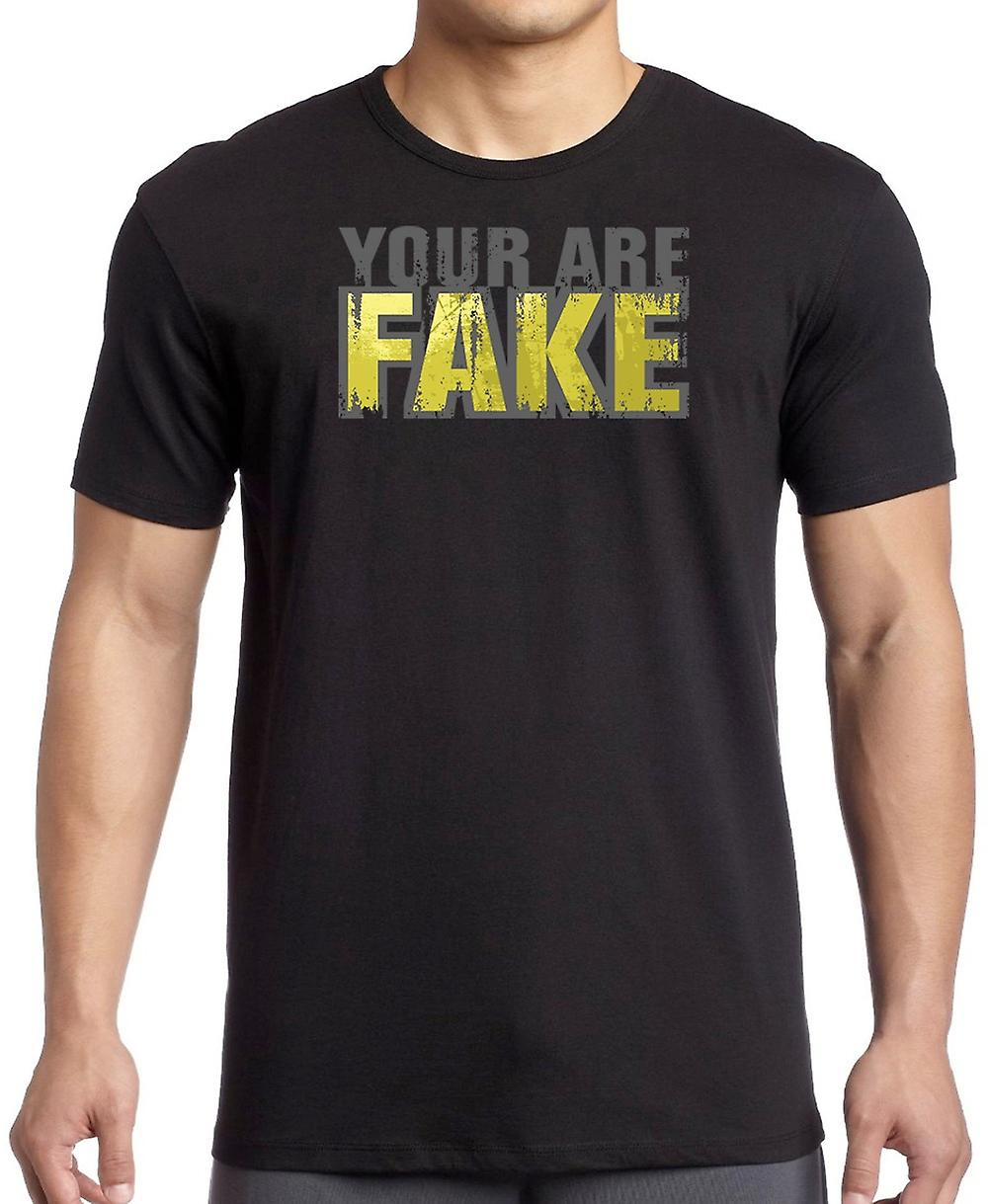 You Are Fake - Funny Crude Women T Shirt