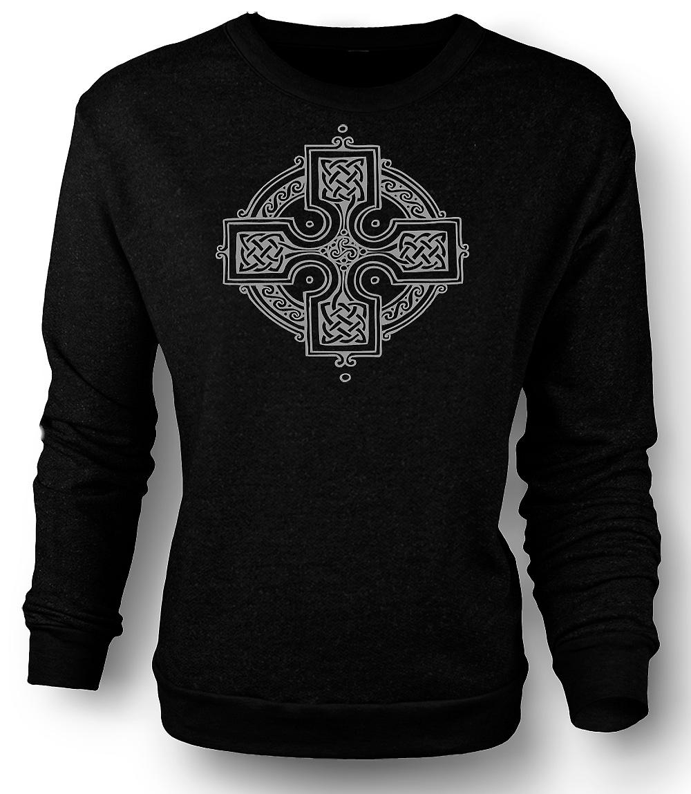 Mens Sweatshirt Celtic Cross 2 - Tattoo Design