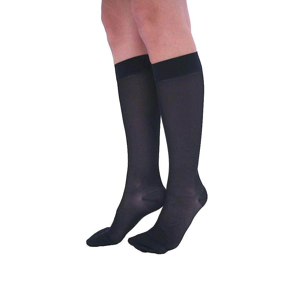 Pebble UK Wide Calf Sheer Compression Knee Highs [Style P43] Nude  XL